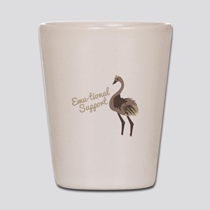 Emu-tional Support Shot Glass