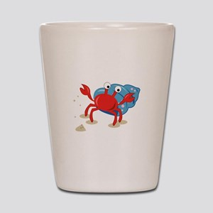 Dancing Crab Shot Glass