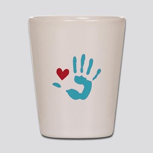 Heart & Hand Shot Glass