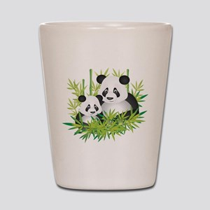 Two Pandas in Bamboo Shot Glass