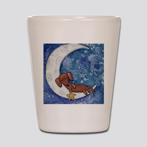 Dachshund on the Moon Shot Glass