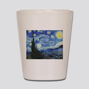 The Starry Night by Vincent Van Gogh Shot Glass