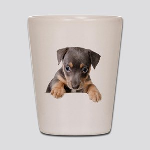 Peekaboo Dachshund Shot Glass
