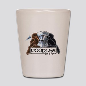 Poodle Fan Shot Glass