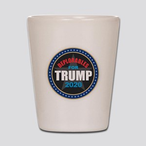 Deplorables for Trump 2020 Shot Glass
