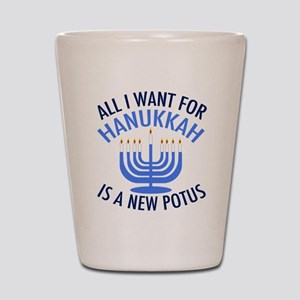 Hanukkah Anti Trump Shot Glass