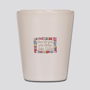 QUILTING HUMOR Shot Glass