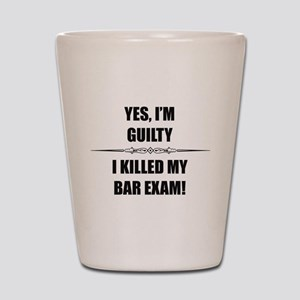 Bar Exam - Im Guilty Shot Glass