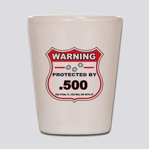 protected by 500 shield Shot Glass
