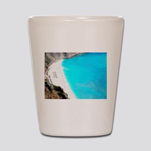 Myrtos of Greece Shot Glass