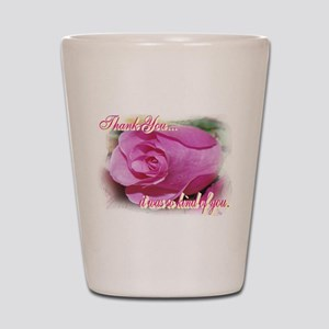 Rose Bud Thank You Shot Glass