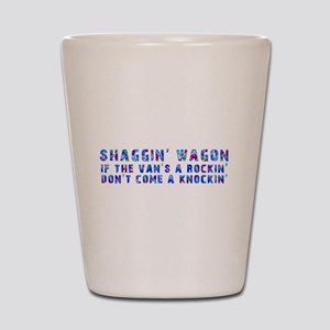 Shaggin' Wagon Circles Shot Glass