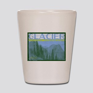 Glacier National Park Mountains Shot Glass