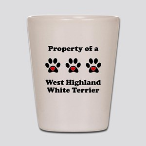 Property Of A West Highland White Terrier Shot Gla