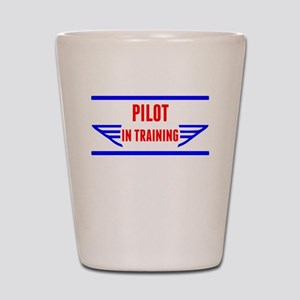 Pilot In Training Shot Glass
