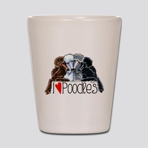 Love Poodles Shot Glass
