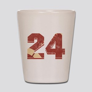 Rugby Football 24 th Birthday Sports Gi Shot Glass