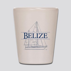 Belize sailboat - Shot Glass