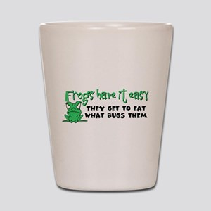 Frogs Have It Easy Shot Glass