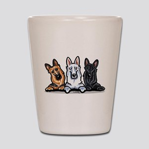German Shepherd Trio Shot Glass