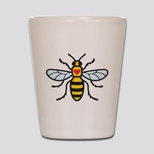 The Manchester Bee Shot Glass