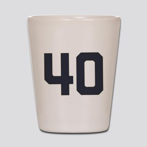40 40th Birthday 40 Years Old Shot Glass