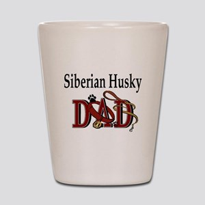 Siberian Husky Dad Shot Glass