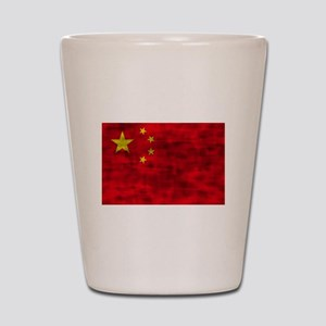 Distressed China Flag Shot Glass