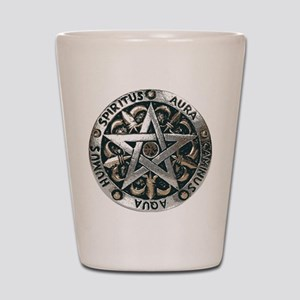WICCAN Pentagram Shot Glass