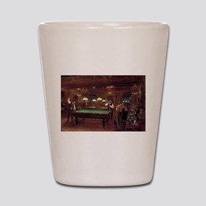 billiards art Shot Glass