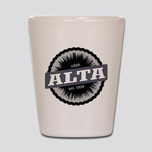 Alta Ski Resort Utah Black Shot Glass