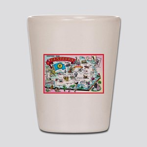 Kentucky Map Greetings Shot Glass