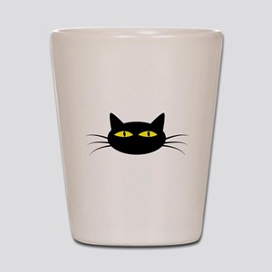 Black Cat Face Shot Glass