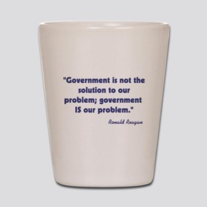 Ronald Reagan Government Quot Shot Glass