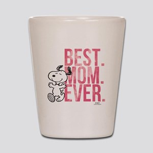 Snoopy Best Mom Ever Shot Glass