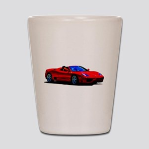 Red Ferrari - Exotic Car Shot Glass