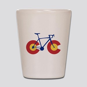 Colorado Flag Bicycle Shot Glass