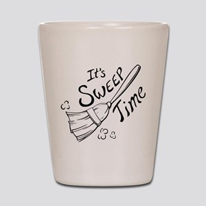 Black and White Sweep Time Shot Glass
