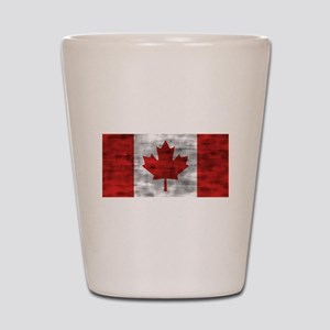 Distressed Canada Flag Shot Glass