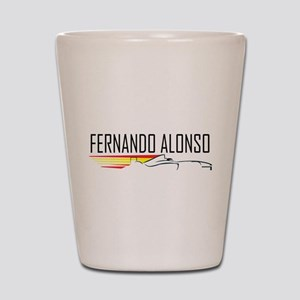 fernando alonso tee Shot Glass