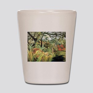 Henri Rousseau tiger in a tropical storm Shot Glas