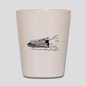 Cartoon Space Shuttle Shot Glass