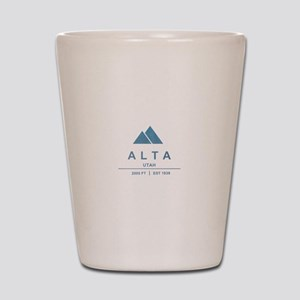 Alta Ski Resort Utah Shot Glass