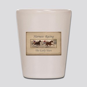 Early Harness Racing Shot Glass