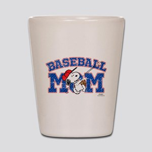Snoopy Baseball Mom Shot Glass