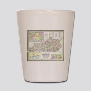 Vintage Map of Kentucky (1850) Shot Glass