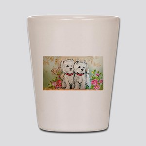 Spring Westies Shot Glass