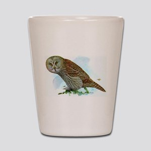 Great Gray Owl Shot Glass