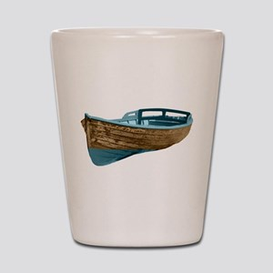Wooden Boat Shot Glass
