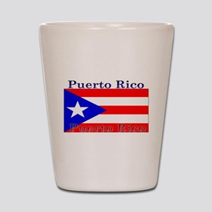 Puerto Rico Rican Flag Shot Glass